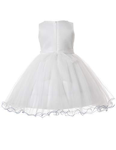 Per Cerimonia 11 Ragazza Anni Vestiti Tulle To Elegante Cielarko Principessa Formale Vestito Abiti Floreale Bianco Bambina 2 WnZPZ8z6q