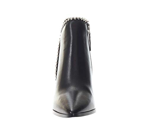 Ankle LC433 Heel Nero Toe Boot CAF Noir Shoes Women's Black Zip WSg54Xq
