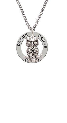 Antiqued Owl - Dance Affirmation Ring Necklace
