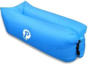 Pevita airPuf - Sofá, Colchón Hinchable. Perfecto Laybag para la Playa, Piscina, Jardín y Camping. Tumbona de Aire en diferentes colores. Lazybag (Azul): Amazon.es: Deportes y aire libre
