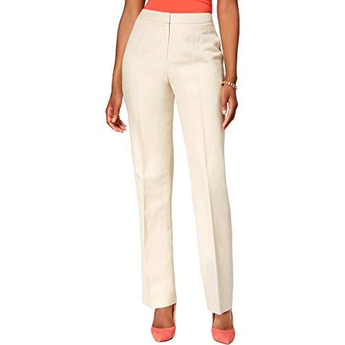 Pant Linen Career (Kasper Women's Petite Linen Pant, Flax, 2P)