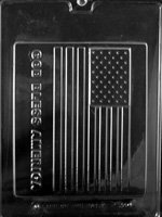 (Grandmama's Goodies P024 God Bless America Large Flag Chocolate Candy Soap Mold with Exclusive Molding Instructions)