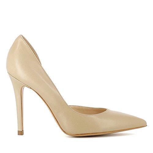 Evita Shoes Alina Damen Pumps halboffen Glattleder Beige