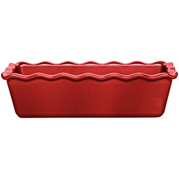 12.5 by 6 by 4 Flour White 12.5 by 6 by 4 116387 Emile Henry Made In France Ruffled Loaf Pan