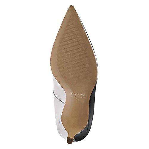 Zapatillas de corte de piel cepillo plateado