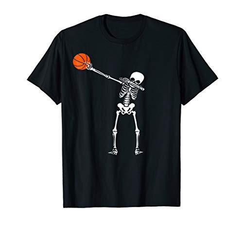 Dabbing Skeleton Shirt - Funny Halloween Basketball T-Shirt]()