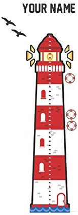 Amazon Com Personalized Nautical Growth Chart Wall Decal For Nursery Kids Room Arts Crafts Sewing