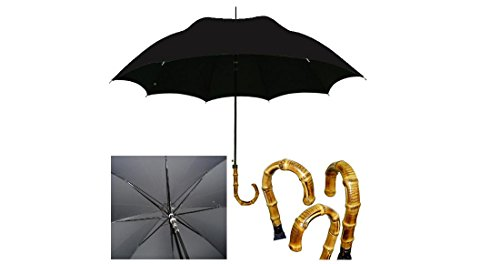 Vista International Men's Bamboo Umbrella (Black) (Handmade Umbrella)