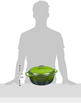 "Casseruola /""forno olandese/"" in ghisa smaltata Basics Verde 5,6/L"