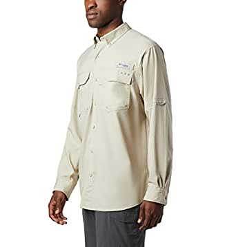 Columbia Sportswear Blood and Guts III Long Sleeve Woven Shirt, Fossil, Large