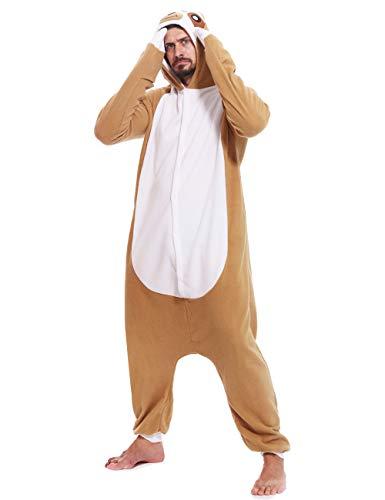 Sloth Adult Onesies Pajamas Cosplay Unsiex Animal Homewear Sleepwear Jumpsuit Costume -