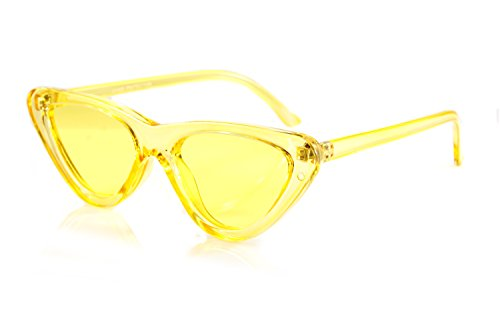 FBL Iconic Celebrity Eye-Candy Lens Frame Slim Cat-Eye Sunglasses A078 - Bella Frames
