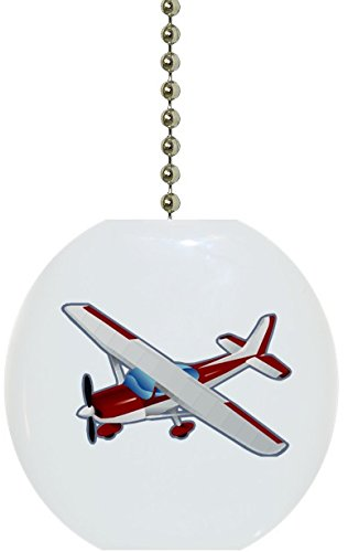 Ceramic Fan Pull (Red Airplane Plane Solid Ceramic Fan Pull)