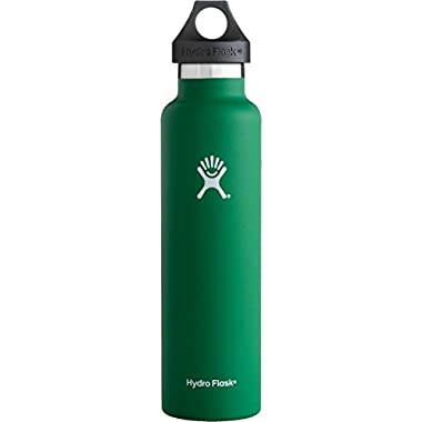 Hydro Flask Vacuum Insulated Stainless Steel Water Bottle, Standard Mouth - 24oz, Forest