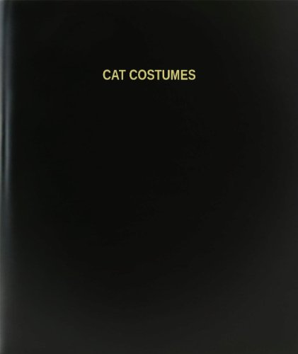 [BookFactory® Cat Costumes Log Book / Journal / Logbook - 120 Page, 8.5