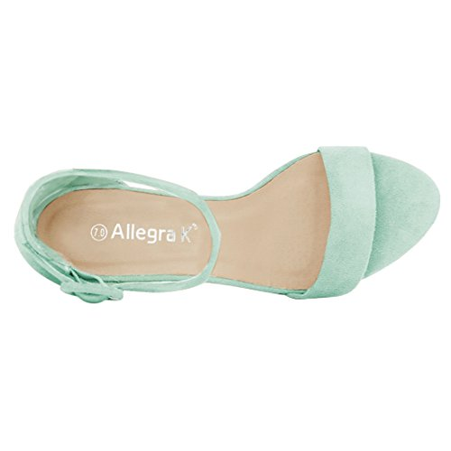 Chunky Strap Sandals K Allegra Heel Green Women's Ankle Light R4paqW
