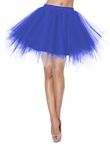Blu Principessa Skirt Annata Donna Tutu 50 Petticoat Balletti Sottovesti Cocktail Sottogonna Crinolina Danza Sottogonne Swing Tulle Retro Gonna WEYH9D2I