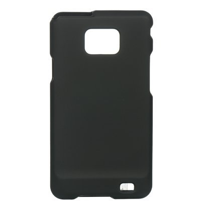 Black Rubberized Phone Cover for Samsung Galaxy S 2 / i9100 Protector Case