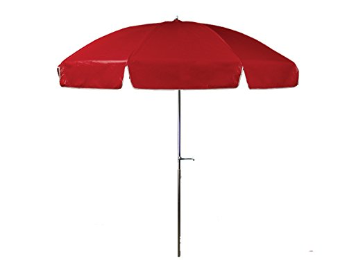 Frankford Umbrellas Laurel Steel Patio Wide Octagon Crank/Tilt Umbrella, Sunbrella Dupione Henna Dupione Henna