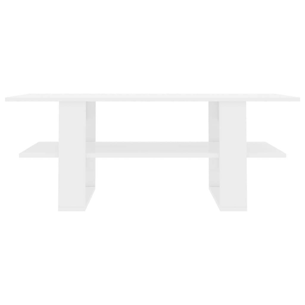 vidaXL Tavolino da caff/è Minimalista Elegante Moderno con Mensola Robusto Resistente Tavolo Basso da Salotto Artigianale Bianco in Truciolato