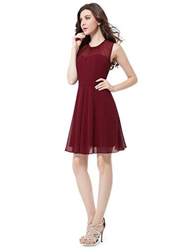Ever-Pretty HE05253SB12 - Vestido para mujer granate