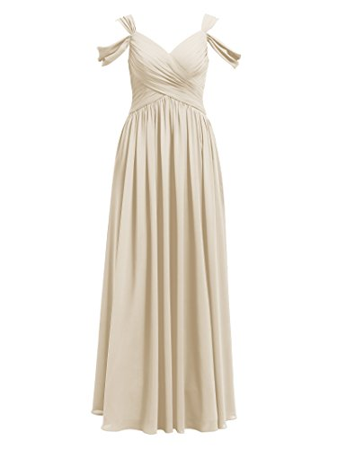 Alicepub Pleated Chiffon Maxi Bridesmaid Dress Long Formal Event Dress for Party