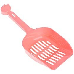 Onpiece Cat Litter Scoop,Sand Waste Scoop for Cat Dog Dove,Plastic (Pink)
