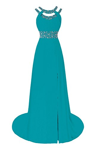 Bess Bridal Women's Beaded A Line Split Long Prom Evening Dresses US20W Jade
