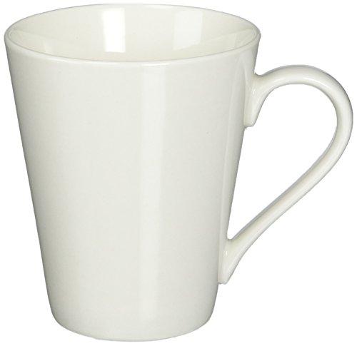 Maxwell and Williams Basics Conical Mug, 9.5-Ounce, White
