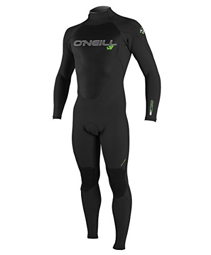 (O'Neill Youth Epic 4/3mm Back Zip Full Wetsuit, Black, 14)