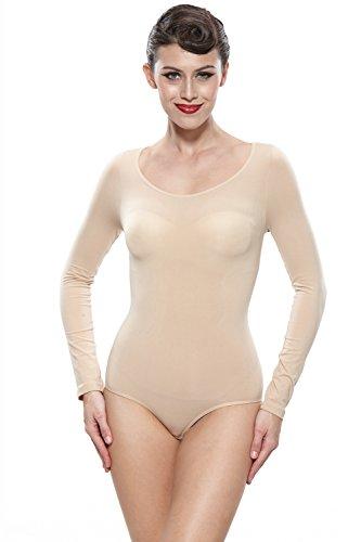 Franato Women's Shapewear Bodysuits Long Sleeve Seamless Body Briefer...