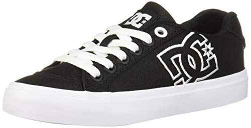 DC Women's Chelsea Plus TX SE Skate Shoe, Black/White/Pink, 9 M US