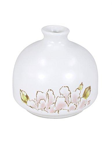 Dahlia Modern Minimalism Lotus Decorative Hand Painted White Porcelain Flower Bud Vase, 4 Inches, - Hand Painted Vase Bud