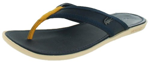 74e80056c7b91f Lacoste Men s Carros 5 Srm Leather Slippers 7-27SRM1223 Dark Blue ...