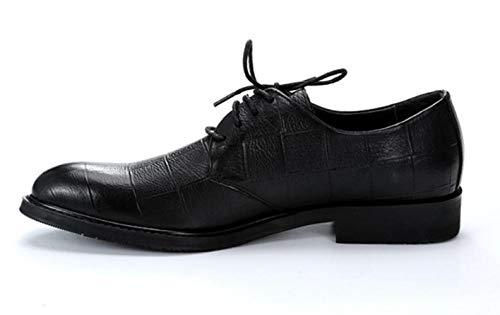 Scarpe in Pelle Casual Abbigliamento da Uomo Primavera Estate Autunno Indossabile Traspirante Scarpe da Uomo Black