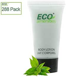 ECO AMENITIES Travel size 0.75oz hotel body lotion bulk, Clear, 288Count