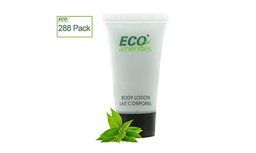ECO AMENITIES Travel size 0.75oz hotel body lotion bulk, Clear, Green Tea, 288Count