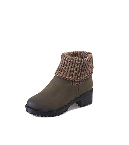 Short Boots 40 Sed Casual Scarpe Donna Knitted Cylinders Martin 's Eu qpwUZwEgx