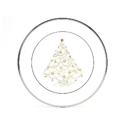 Noritake Palace Christmas Platinum Holiday Accent Plates, Set of 4