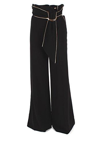 Pantalone Donna Elisabetta Franchi 42 Nero Pa02976e2 Autunno Inverno 2017/18