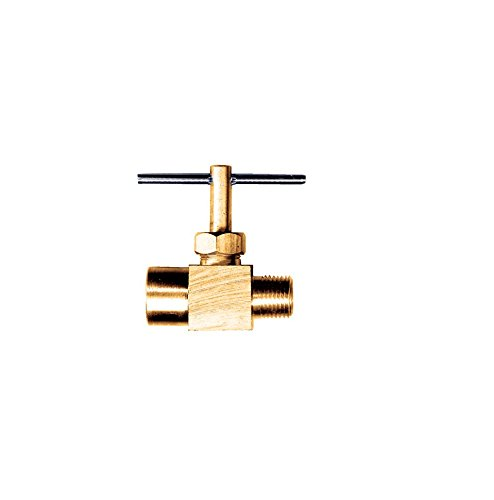 Needle Valve Brass Fitting - New 1/8 Male NPT x 1/8 Female NPT Inline Brass Liquid Gas Needle Valve Propane Adaptor Fitting Union POWER Welding Garden Gas Tool