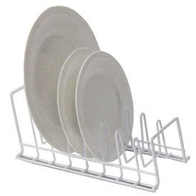 Large Product Image of Vinyl Coated Wire Lid/Plate Rack, White