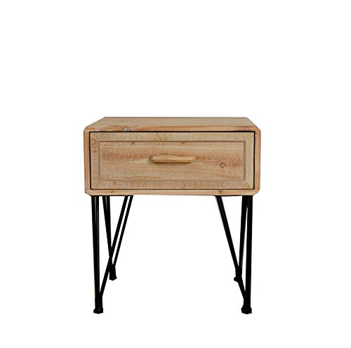 ベッドルームベッドサイドテーブル単層シンプルなファッションベッドサイドテーブル引き出しキャビネット収納キャビネットウッドカラーベッドサイドキャビネット B07QKH2YCS