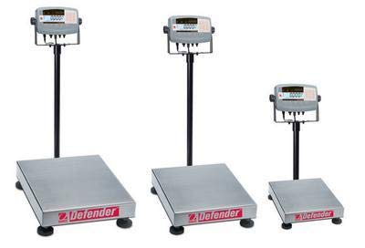 - 80501359 - Defender 7000 Xtreme Rectangular Bench Scale, Ohaus - Weighing Capacity : 30000 g (66.1 lbs.) - Each