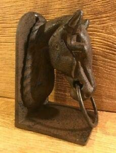 LuxMart Cast Iron Horse Head Bookend 8