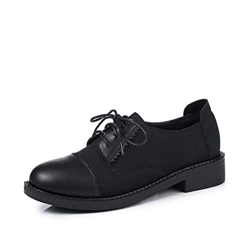 Urban Outfitters Leather Moccasins - Women Sneakers Oxford Shoes Flats Shoes Women Leather Suede Lace Up Boat Shoes Round Toe Flats Moccasins Black