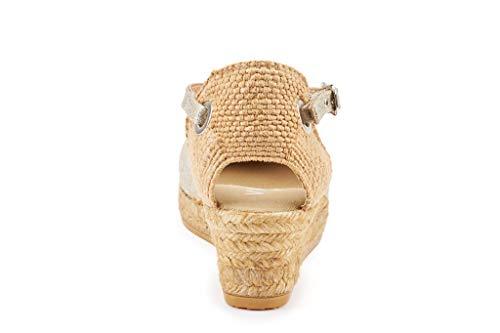 Viscata tacco pollici chiusa In caviglia classico Silver cinturino Made Pubol alla espadrillas punta Spain 2 con ngWnHzT