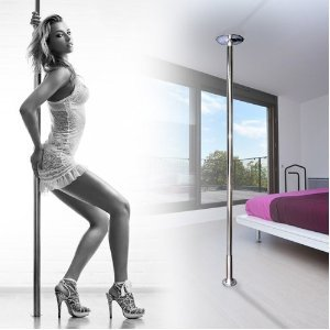 Portable Fitness Exercise Exotic Stripper Strip Spinning Pole Dance Dancing  from MEGA BRAND