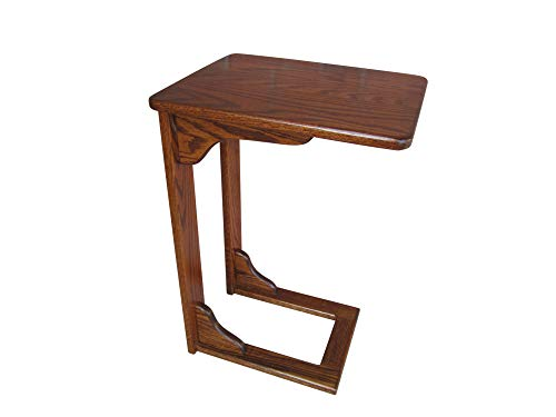 (Wooden Sofa Server Amish Handcrafted NO Assembly Required Laptop Table Choice of Color Solid Wood (Rich, Deep Oak - Michael's Finish))
