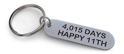 Rounded Stainless Steel Tag Keychain Engraved with